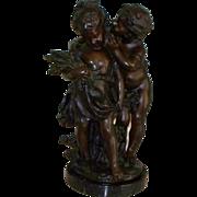 """Auguste Moreau """" The Secret """" Bronze Sculpture    produced..1970's"""