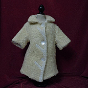 REDUCED All Original Antique Lamb's Coat for german bisque french bebe doll
