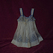 Superb All Original  antique 19th century Pinafore Museum Quality for german french huge bisqu