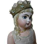 Gorgeous Couture Crown for antique french bebe or wax doll