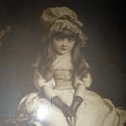 SOLD Antique  Framed Print  Lithograph  Cherry Ripe 1879 by John Everett Millais