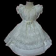 SOLD Superb Antique Original victorian whitework Dress