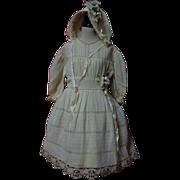 SOLD Antique Original crepe Dress Bonnet for huge german french bisque doll