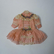 SOLD Gorgeous tiny french Couturier Bebe Dress Hat for antique Bleuette sized bisque doll