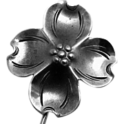 Vintage Stuart Nye North Carolina Sterling Silver Dogwood Stickpin Pin
