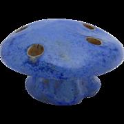 Vintage Fulper Blue Glaze Mushroom Flower Frog