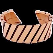 Vintage Renoir Matisse Copper Modernist Cuff Bracelet