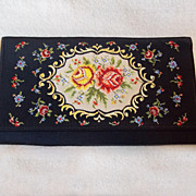 Gorgeous PETIT POINT Vintage Estate Clutch Purse