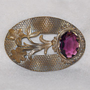 Gorgeous VICTORIAN Antique Estate LILY Sash Pin Brooch