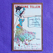 Fabulous FORTUNE TELLER Antique Secret Message Estate Postcard