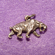 Awesome TIGER Sterling Silver Vintage Charm