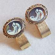 Signed DANTE Incolay Museum Masterpiece Lovers Vintage Estate Cufflinks