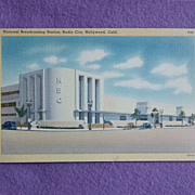 Vintage NBC 1940s Linen Estate Postcard