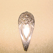 Fabulous S. Kirk & Son STERLING Rose Pattern Repousse Bookmark