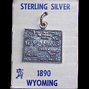 Awesome WYOMING Sterling Vintage Estate Souvenir Charm