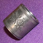 Antique Victorian Floral Design Estate Silverplated Napkin Ring
