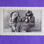 Antique I'M IN THIS BUNCH Humorous Estate Postcard