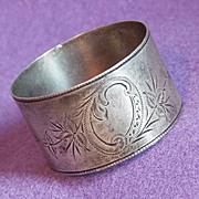 Sterling Victorian Aesthetic Design Antique Estate Napkin Ring Holder