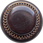 Bakelite & Filigree Vintage Estate Button