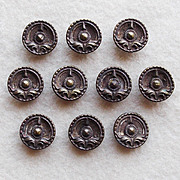 Victorian Buttons Set of 10 Antique Small Picture Buttons