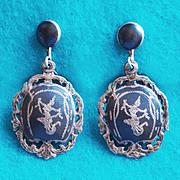 Fabulous STERLING Vintage Dancing SIAM GODDESS Estate Earrings