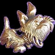 Awesome Tortolani Signed Dog Vintage Estate Pin Brooch