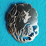 Signed SIAM STERLING Figural Goddess Morning Glory Vintage Estate Pin Brooch