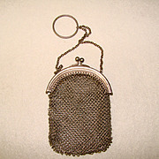Fabulous Antique Mesh Design DOLL or Finger Purse