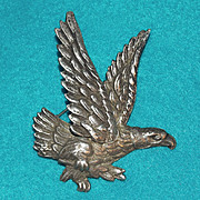Fabulous MEXICAN STERLING Majestic Eagle Vintage Estate Pin Brooch