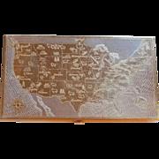 United States Design Signed Wadsworth Vintage Estate Cigarette Case