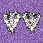 SOLD Sparkling ART DECO Small Pair of Matching Rhinestone Vintage Estate Dress Clips