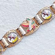 Awesome GOOFUS GLASS Cowboy on Horse Vintage Estate Bracelet