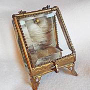SOLD Antique VICTORIAN Pocket Watch Holder Display Jewelry Box
