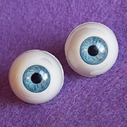 Awesome BLUE EYES Vintage Plastic Pierced Earrings