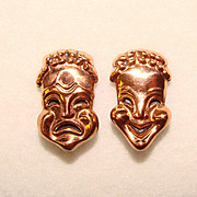 Awesome RENOIR Comedy Tragedy Theatrical Ear Clips