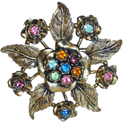 Fabulous LITTLE NEMO Signed Color Rhinestone Vintage Estate Pin Brooch