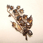 Fabulous STERLING TAXCO Vintage Lily of the Valley Brooch