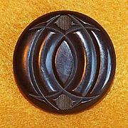 Gorgeous CARVED BAKELITE Vintage Large Button