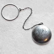 Victorian Sterling Coin Locket Purse with Finger Ring