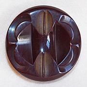 Gorgeous Large Carved Bakelite Vintage Estate Button