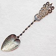 Antique Sterling CHICAGO Cutwork Handle Souvenir Spoon