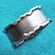 Sterling WJ SANDERS Vintage Napkin Ring