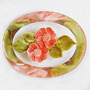 Gorgeous CARVED LUCITE Flowers Vintage Pin Brooch