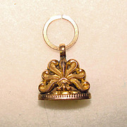 SOLD Fabulous Antique Victorian Gold Filled Ornate Pocket Watch Pendant Fob