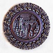 Fabulous Antique CASTLE Large Picture Story Button