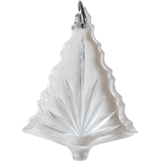 Gorgeous CUT CRYSTAL CHRISTMAS TREE Vintage Pendant