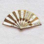 Signed MIRIAM HASKELL Vintage Fan Pin Brooch