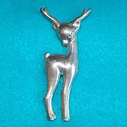 Awesome STERLING DEER Vintage Pin Brooch