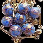 Gorgeous VENETIAN GLASS Periwinkle Blue Vintage Necklace