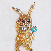Awesome SILLY RABBIT Vintage Pin Brooch